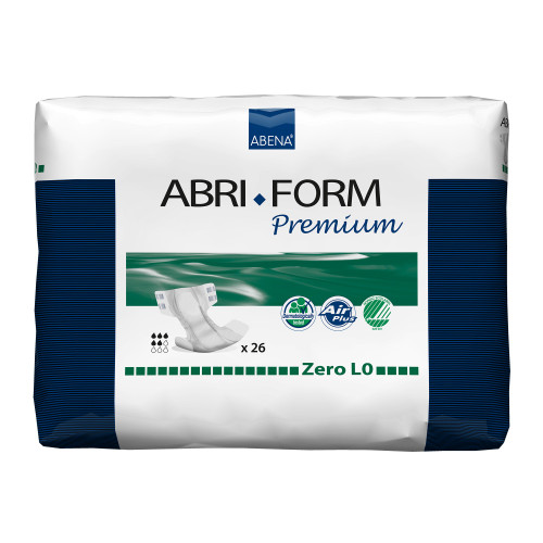 """Abri-Form Premium L0 Unisex Adult Disposable Diaper with tabs, Heavy Absorbency, 43059, Large (40-60"""") - Bag of 26"""