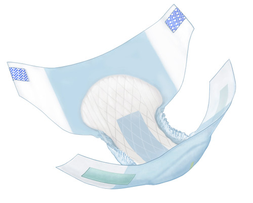 """Wings Unisex Adult Disposable Diapers with Tabs, Heavy Absorbency, Multiple Colors, 63074, Blue - Large (45-58"""") - Case of 72 Diapers (4 Bag)"""