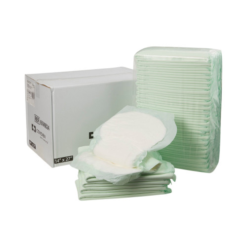"""Wings Adult Unisex Disposable Incontinence Liner, Moderate Absorbency , 6598B24-, White - 14 X 27"""" - Case of 48 Liners (2 Packs)"""