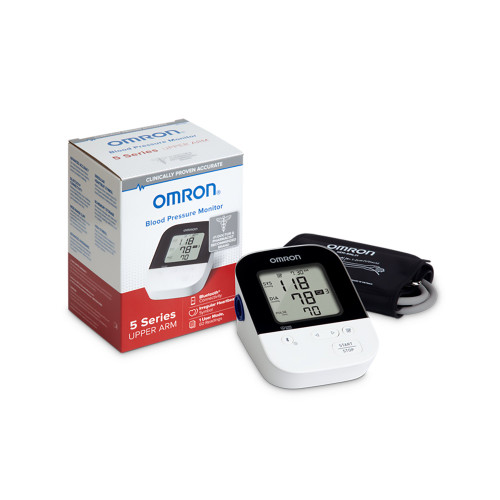 Omron Digital Blood Pressure Monitor, 5 Series Upper Arm with Bluetooth Connectivity, BP7250, 1 Monitor