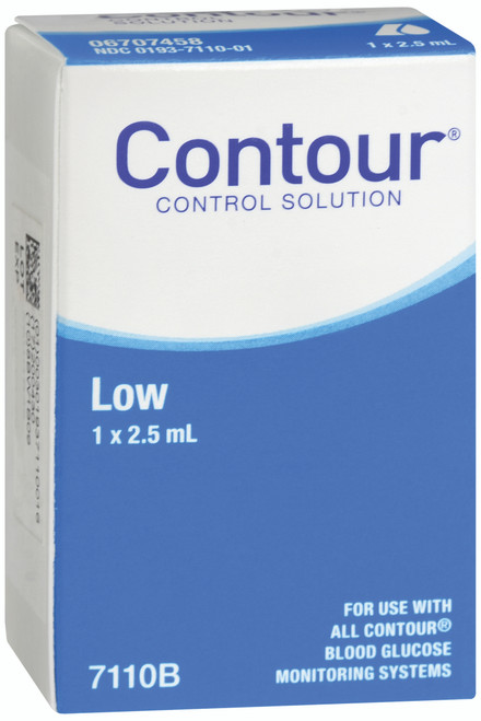 Bayer Contour Blood Glucose Control Solution, Low, 2.5 mL, 7110B, Case of 12