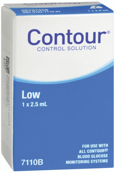 Bayer Contour Blood Glucose Control Solution, Low, 2.5 mL, 7110B, Single Box