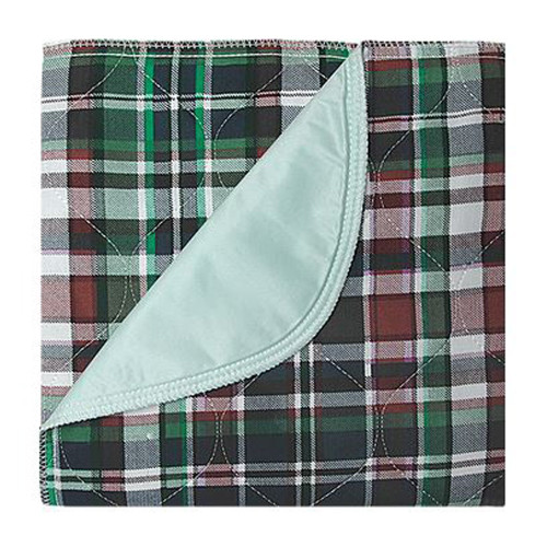"""Beck's Classic Highland Blue Plaid Reusable Underpad, Heavy Absorbency, 7136P-NAPBL, 34 X 36"""" - Pack of 12"""