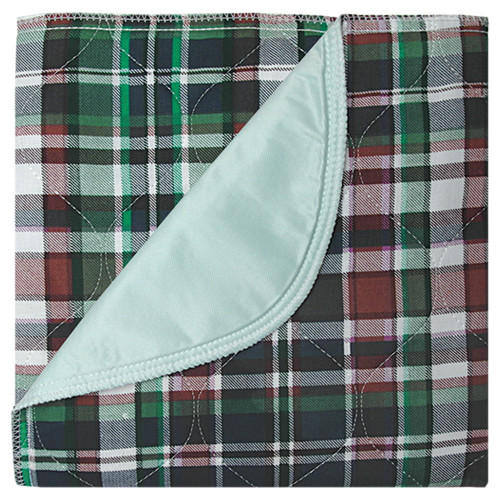 """Beck's Classic Highland Blue Plaid Reusable Underpad, Heavy Absorbency, 7118P, 18 X 24"""" - Pack of 12"""