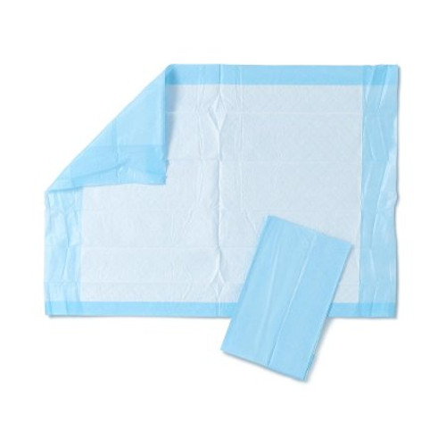 """Medline Protection Plus Disposable Underpad, Light Absorbency, MSC281230, 17 X 24"""" - Case of 300"""