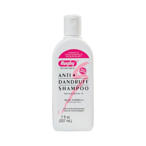 Rugby Anti Dandruff Shampoo, Bottle, 7 oz, Unscented, 00536199553, 1 Bottle