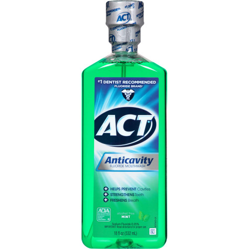 Act Anticavity Fluoride Mouthwash, Bottle, 18 oz., 41167009428, 1 Bottle