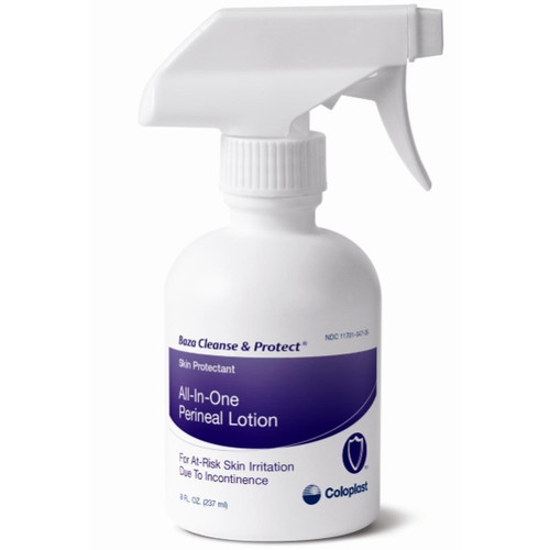 Baza Cleanse and Protect Skin Protectant One-Step Perineal Lotion, 8 oz,, 7712, Case of 12 Bottles