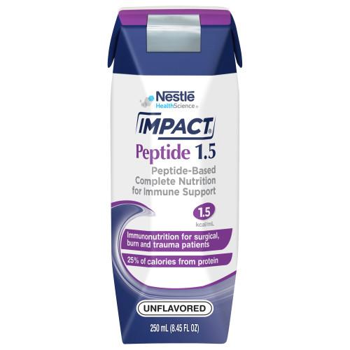 Nestle HealthScience Impact Peptide 1.5 Tube Feeding Formula, 8.4 oz., 10043900974009, Case of 24
