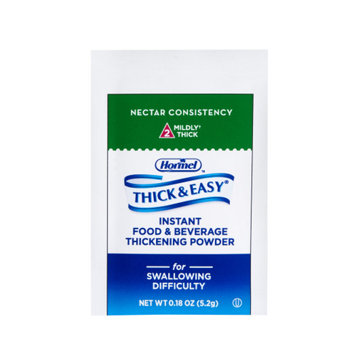 Hormel Thick & Easy Instant Food & Beverage Thickening Powder, Nectar Consistency, Moderately Thick, 21929, Case of 100