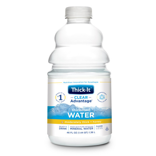 Thick-It Clear Advantage Thickened Water, Honey Consistency, Moderately Thick, B481-A7044, 48 oz. - Case of 4