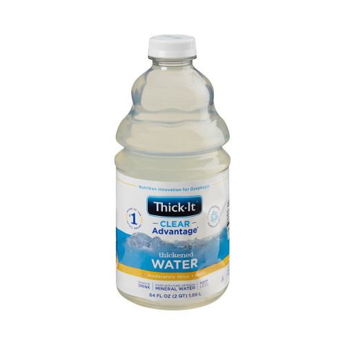 Thick-It Clear Advantage Thickened Water, Honey Consistency, Moderately Thick, B452-A5044, 64 oz. - Case of 4