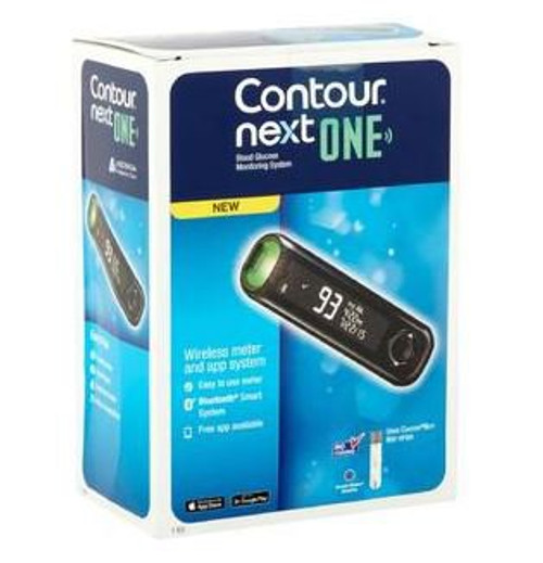 Contour Next ONE Blood Glucose Meter, 5 Second Results, 9763, 1 Each