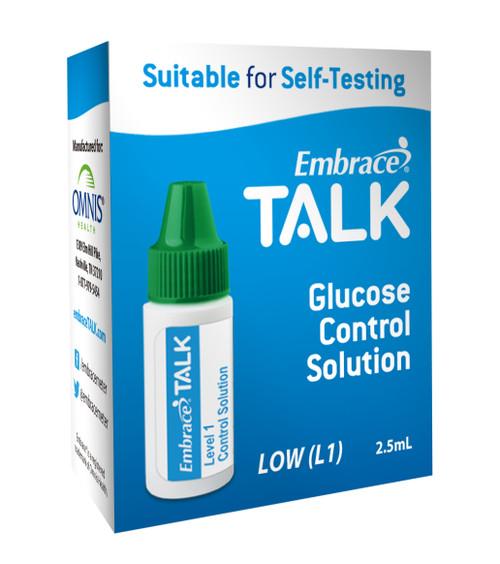 Embrace Talk Glucose Control Solution, 2.5 mL Level 1, APX03AB0318, 1 Each