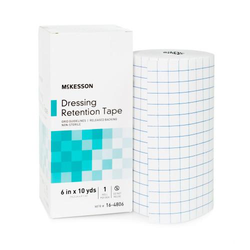 McKesson Dressing Retention Tape, NonSterile, White , 16-4806, 6 Inch X 10 Yard - 1 Box