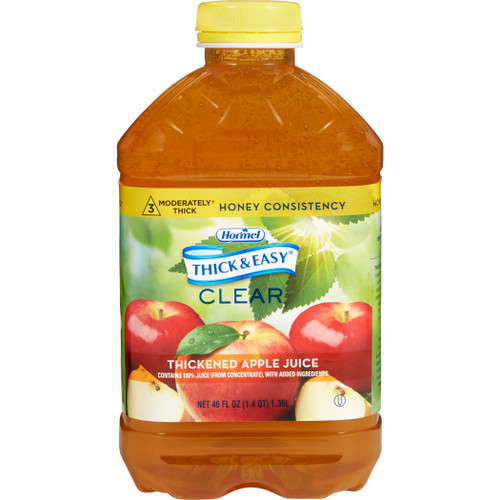 Hormel Thick & Easy Clear, Thickened Apple Juice, Honey Consistency, 30634, Case of 6