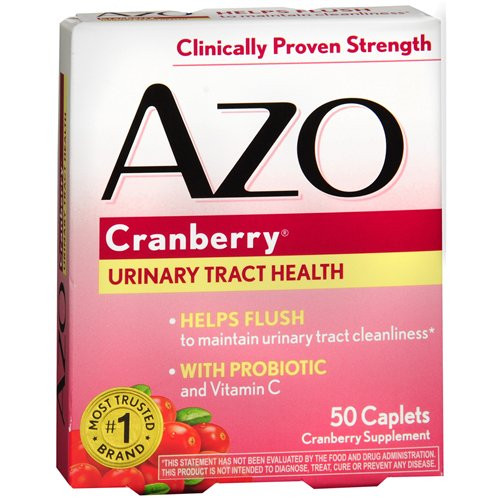 Azo Urinary Tract Health Cranberry Supplement, 50 Tablets, 87651042067, 1 Bottle