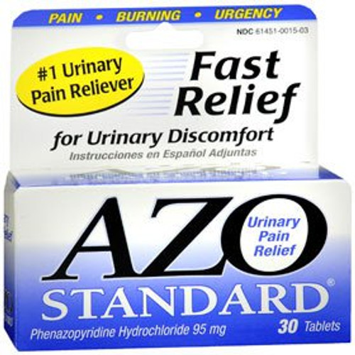 Azo Standard Urinary Pain Relief, 30 Tablets, 87651030152, 1 Bottle