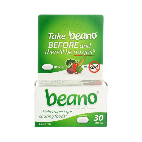 Beano Food Enzyme Dietary Supplement, 30 Tablets , 04203710304, 1 Bottle