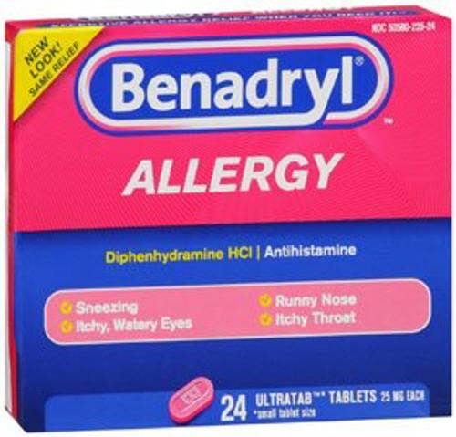 Benadryl Allergy Relief, 25 mg, 25 Tablets, 10312547170311, 1 Box
