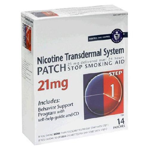 Habitrol Stop Smoking Aid Nicotine Transdermal System Patch, 21 mg, 43598044874, Box of 14