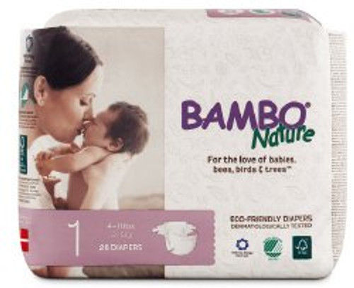 Bambo Nature Diaper, Heavy Absorbency, 16049, Size 3 (9-20 lbs) - Case of 198 (6 Packs)