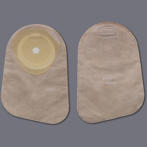 """Premier Colostomy Pouch, 9"""" Length, 1"""" Stoma, Closed End, Beige, 82325, Box of 30"""