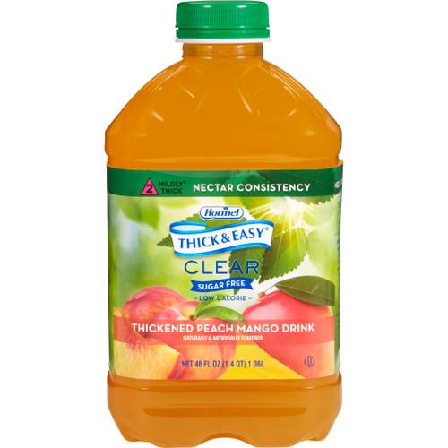 Hormel Thick & Easy Clear,  Sugar Free, Peach Mango, Nectar Consistency, 46 oz. , 79018, Case of 6