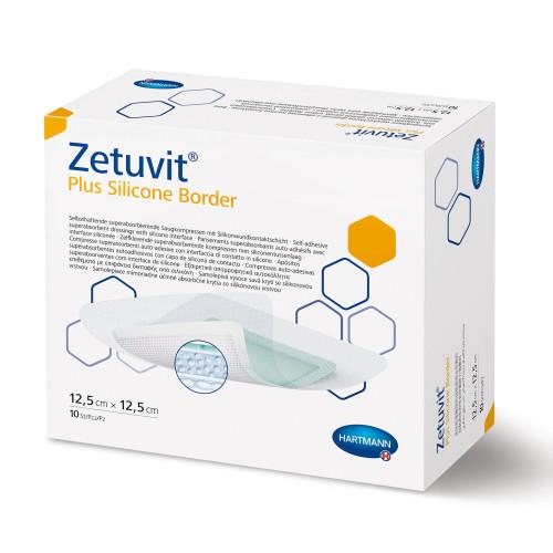 "Zetuvit Plus Silicone Border Super Absorbent Dressing, 7 X 7"", 413121, Box of 10"