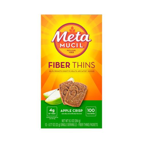 Metamucil Fiber Thins Wafer, Apple Crisp, 24 Count, 03700074091, 1 Box