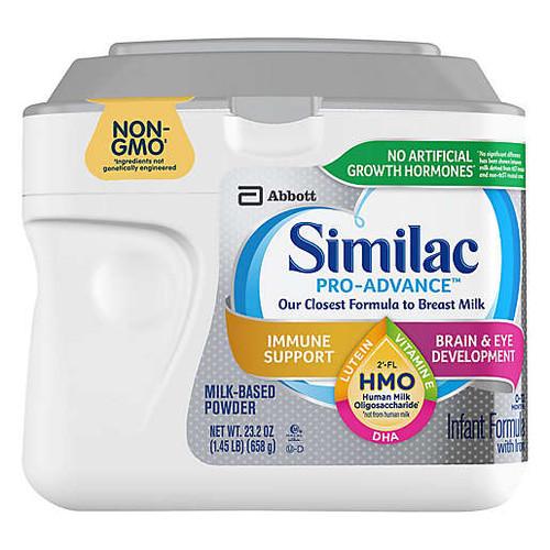 Similac Pro-Advance Complete Nutrition Infant Formula, 20.6 oz., 68088, 1 Each