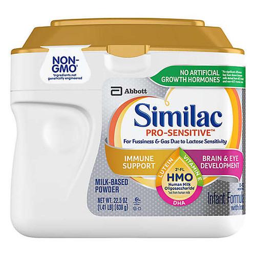 Similac Pro-Sensitive Infant Formula with Iron, 22.5 oz. , 68090, 1 Each