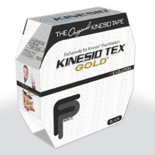 Kinesio Tex Gold Kinesiology Tape, 2 Inch x 34 Yard, Black, GKT-45125, Box of 1