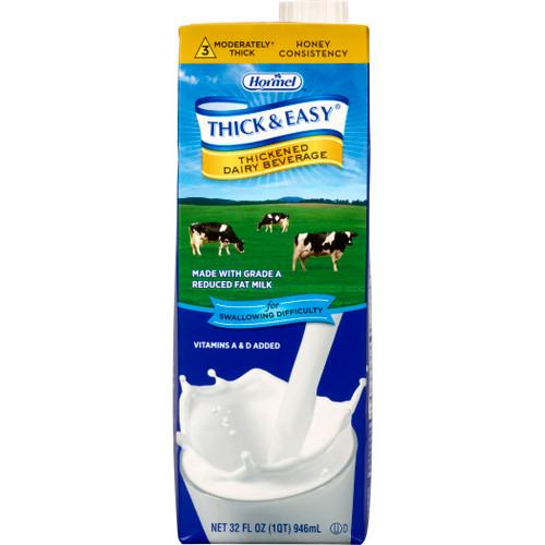 Thick & Easy Dairy Honey Consistency Milk Thickened Beverage, 32 oz. Carton, 73626, Case of 8