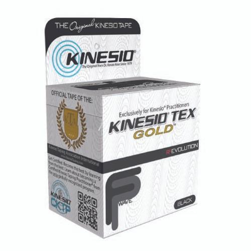 Kinesio Tex Gold Kinesiology Tape, 2 Inch x 5½ Yard, Black, 24-4873, 1 Roll