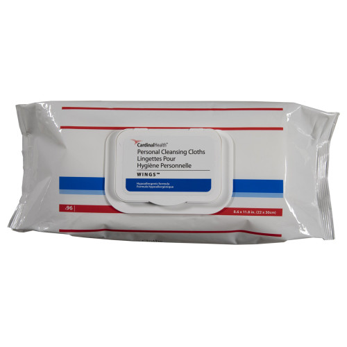 Cardinal Health Personal Cleansing Cloths, Wings, Soft Pack, Scented, 5399S, Case of 768