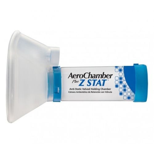AeroChamber Plus Z Stat Anti-Static Valved Holding Chamber with Mask, 80710Z, Blue (Large Mask) - 1 Each