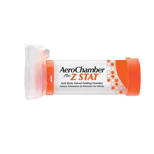AeroChamber Plus Z Stat Anti-Static Valved Holding Chamber with Mask, 88710Z, Orange (Small Mask) - 1 Each