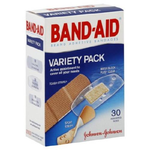 Band-Aid Brand Adhesive Bandages Variety Pack, 111907500, Box of 30