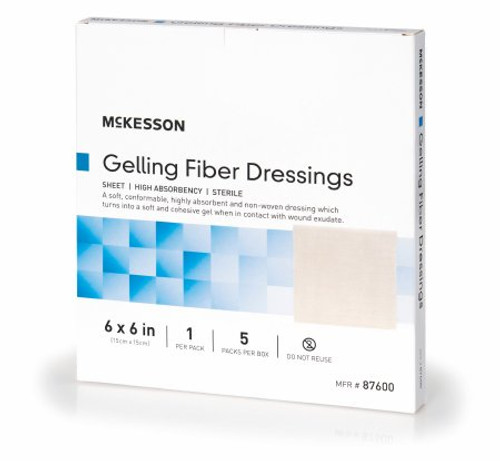 "McKesson Gelling Fiber Dressings, 6 X 6"", 87600, Box of 5"