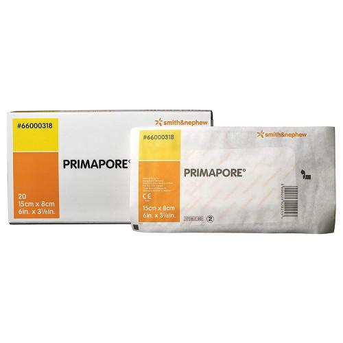 "Primapore Adhesive Dressing, 3-1/8 X 6"", 66000318, Box of 20"