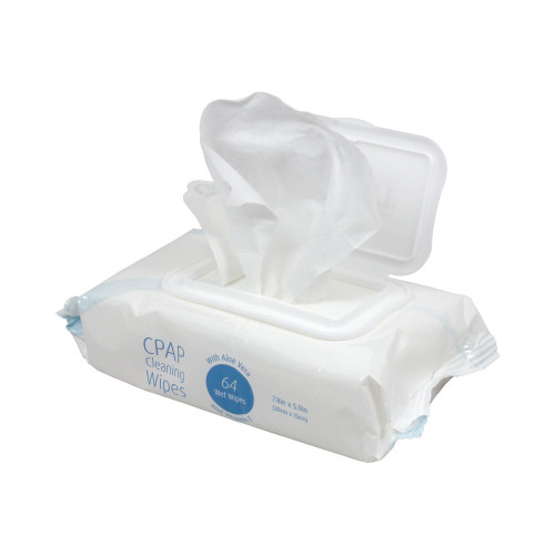 Sunset Healthcare CPAP Cleaning Wipes, CAP1003S, Pack of 64