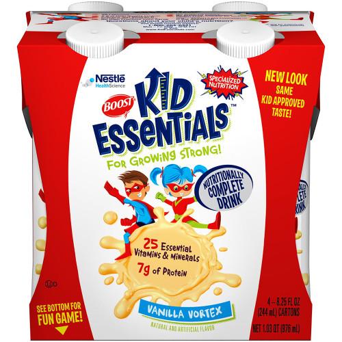 Boost Kid Essentials Nutritionally Complete Drink, 8.25 oz., Vanilla Vortex, 12251151, Case of 16