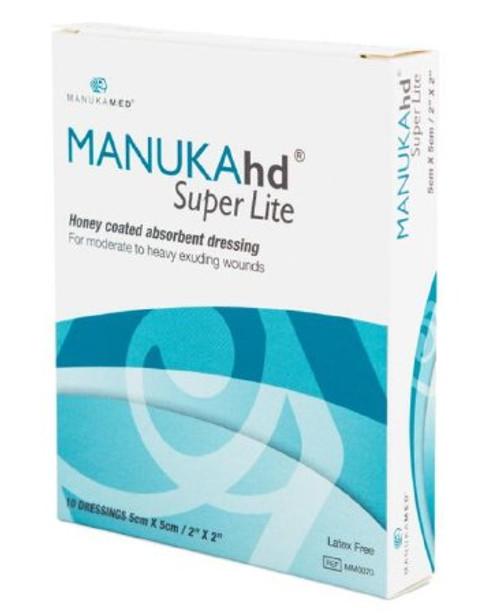 "MANUKAhd Super Lite Honey Coated Absorbent Dressing, 2 X 2"", MM0070, Box of 10"