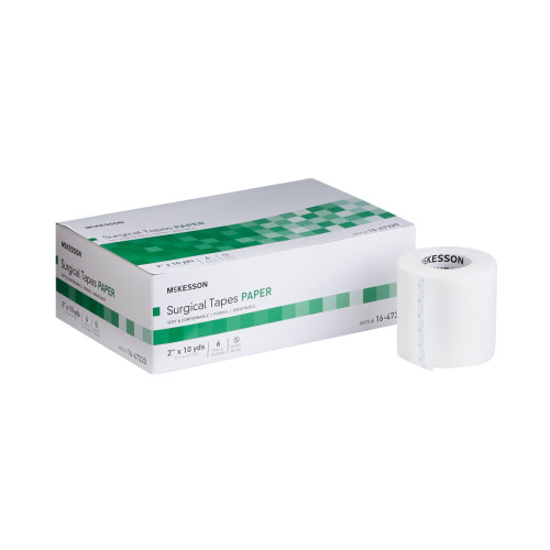 """McKesson Paper Medical Tape, 2""""x 10 yd, 16-47320, Case of 72 (12 Boxes)"""
