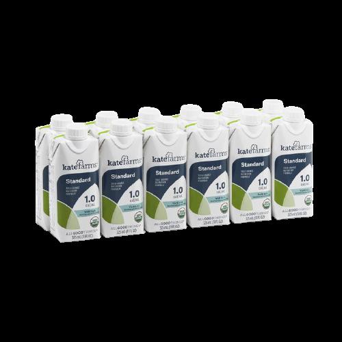 Kate Farms Standard 1.0 Sole-Source Nutrition Formula, Vanilla, 11 oz., 851823006683, Case of 12