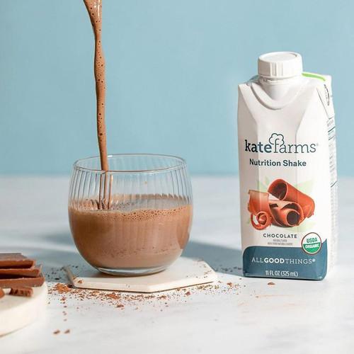 Kate Farms Nutrition Shake, Chocolate, 11 oz., 811112030614