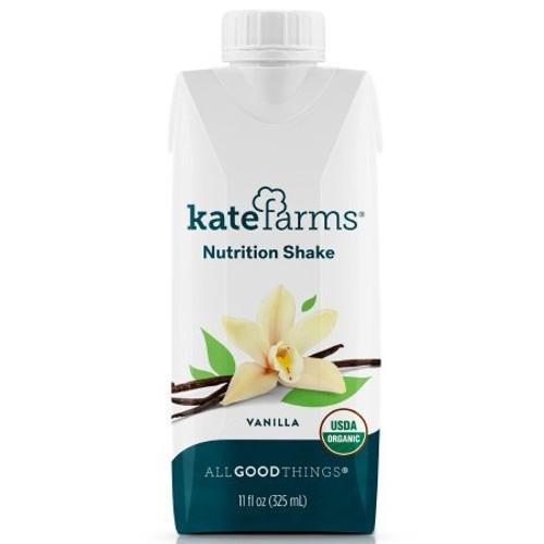 Kate Farms Nutrition Shake, Vanilla, 11 oz., 811112030591, 1 Each