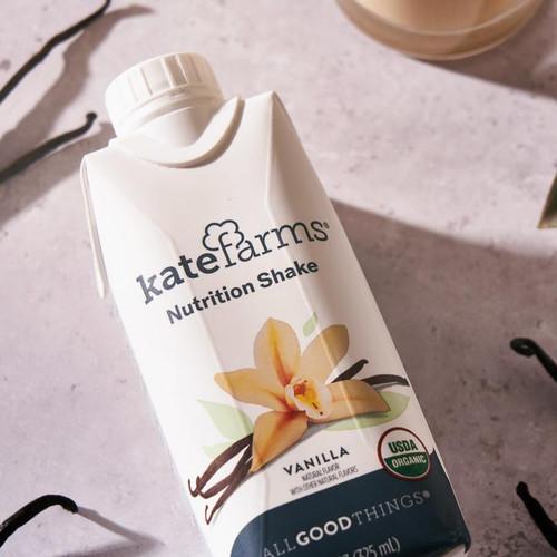 Kate Farms Nutrition Shake, Vanilla, 11 oz., 811112030591