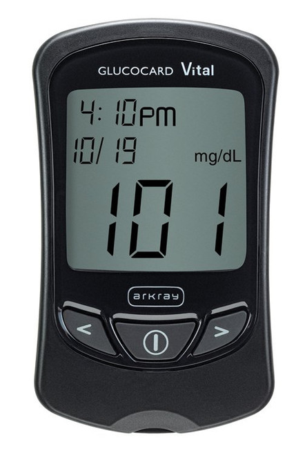 Arkray Glucocard Vital Blood Glucose Meter Kit, 761100, 1 Each
